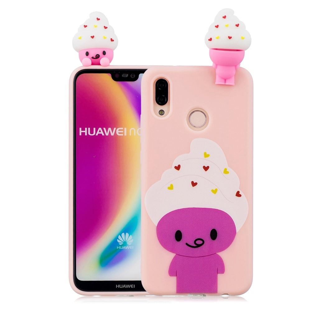 Image of   Huawei P20 Lite - Gummi cover med 3D figur - Tegnefilms dyr