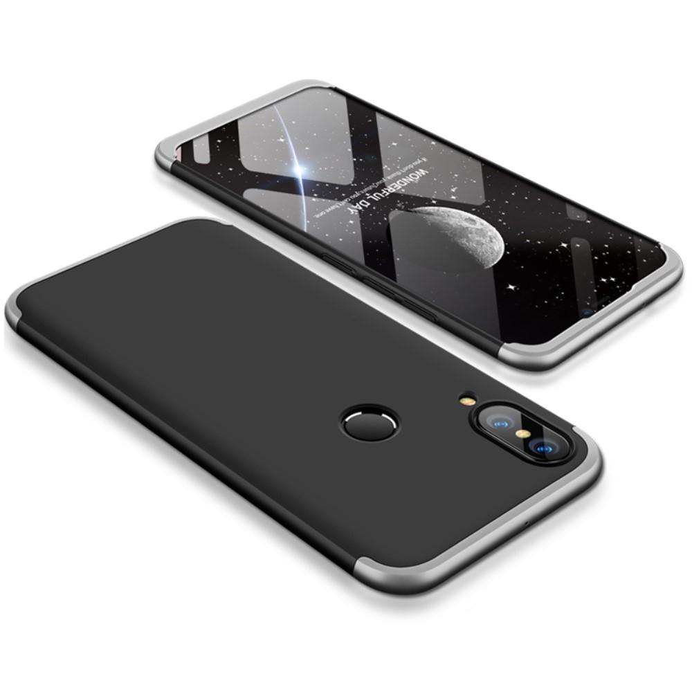 Image of   Huawei P20 Lite - GKK Hardcover m/aftagelig design - Sølv/sort