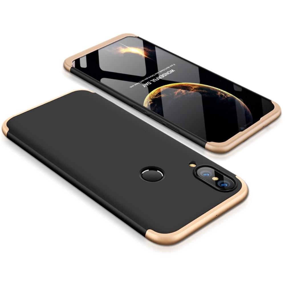 Image of   Huawei P20 Lite - GKK Hardcover m/aftagelig design - Guld/sort