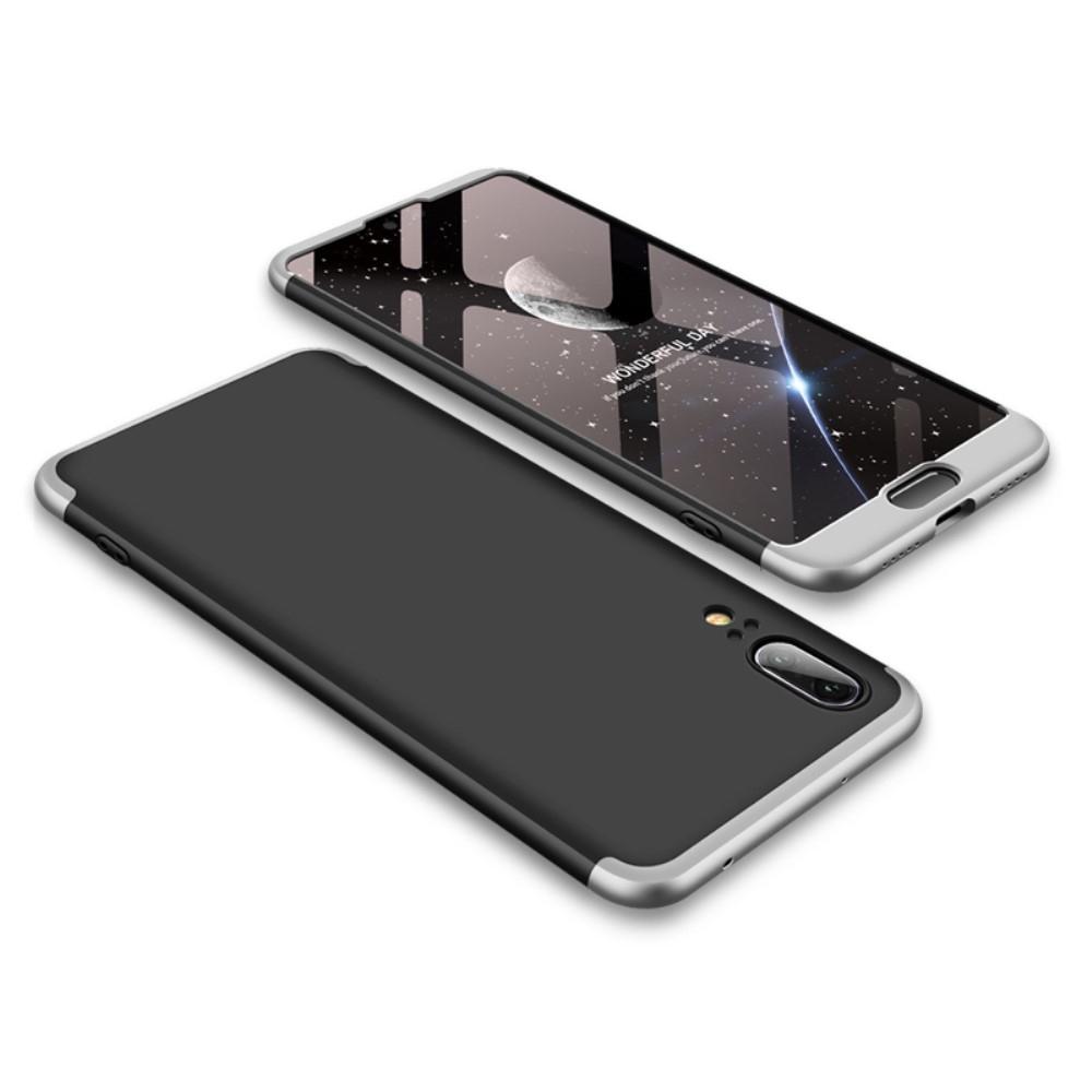 Image of   Huawei P20 - GKK Hardcover m/aftagelig design - Sølv/sort