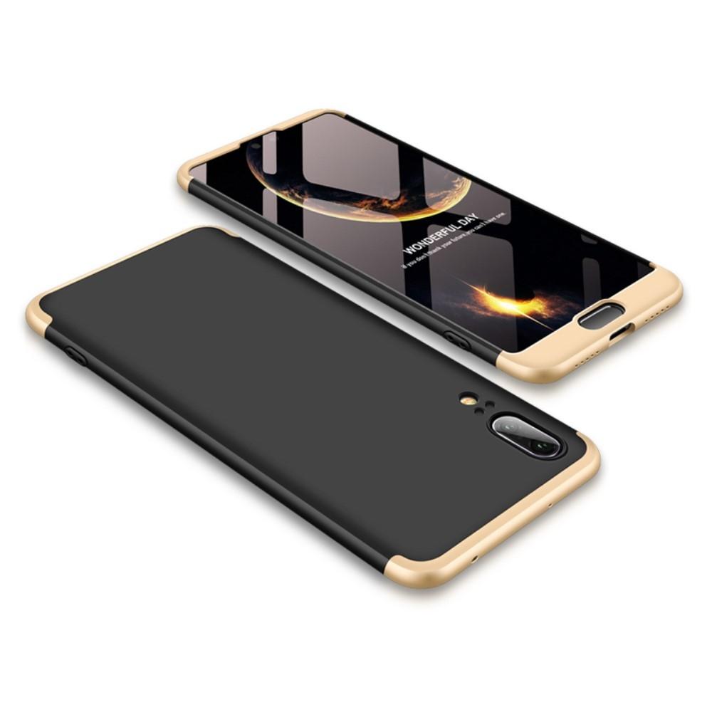 Image of   Huawei P20 - GKK Hardcover m/aftagelig design - Guld/sort