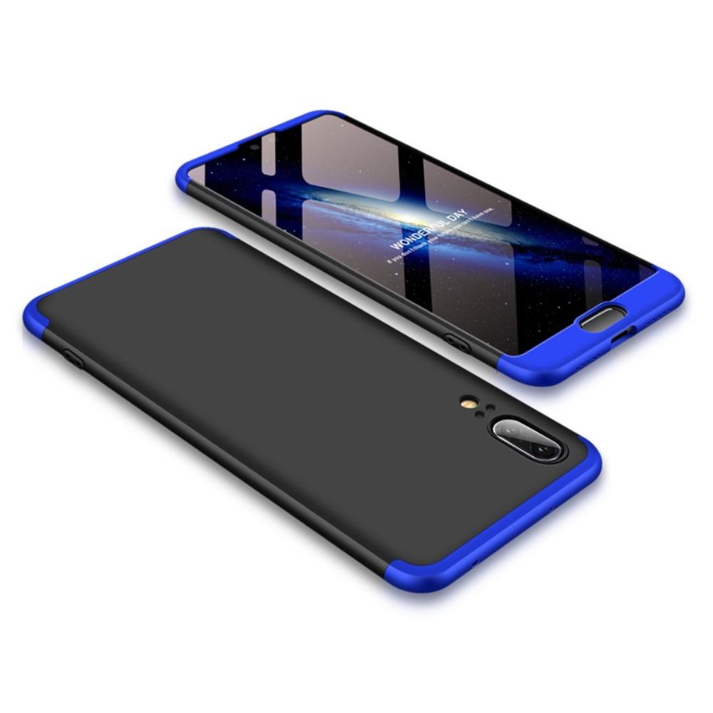 Image of   Huawei P20 - GKK Hardcover m/aftagelig design - Blå/sort
