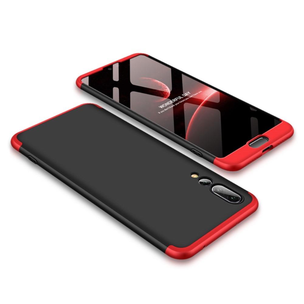 Image of   Huawei P20 Pro - GKK Hardcover m/aftagelig design - Rød/sort