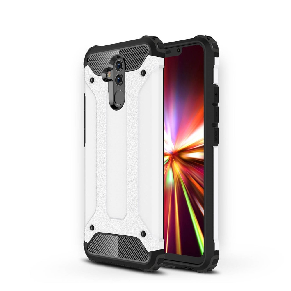 Image of   Huawei Mate 20 Lite - Armor Guard Hybryd cover/etui - Hvid
