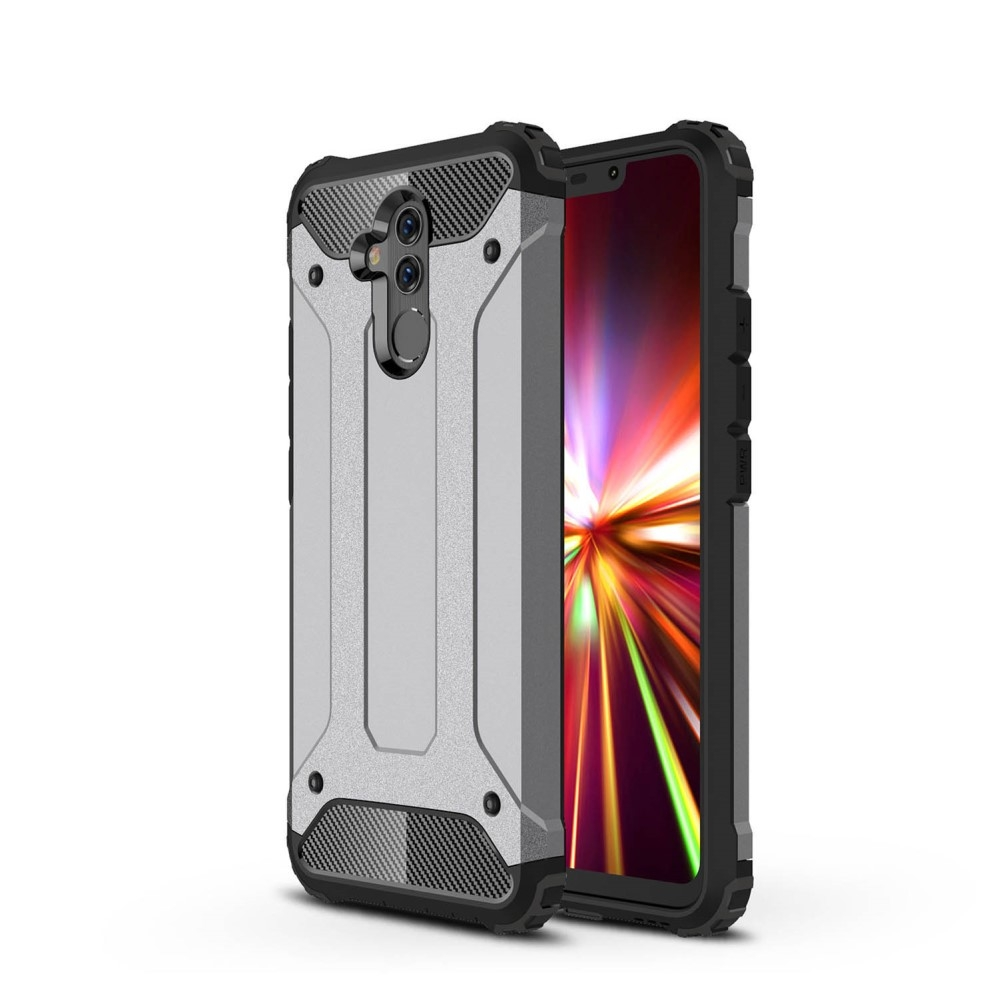 Image of   Huawei Mate 20 Lite - Armor Guard Hybryd cover/etui - Grå