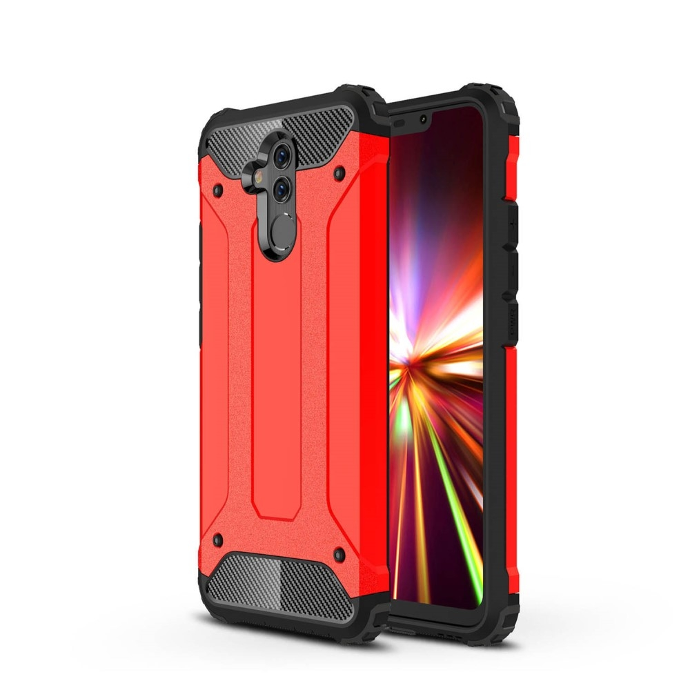 Image of   Huawei Mate 20 Lite - Armor Guard Hybryd cover/etui - Rød