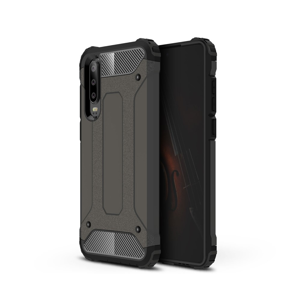 Image of   Huawei P30 - Armor Guard Hybrid cover - Kaffe