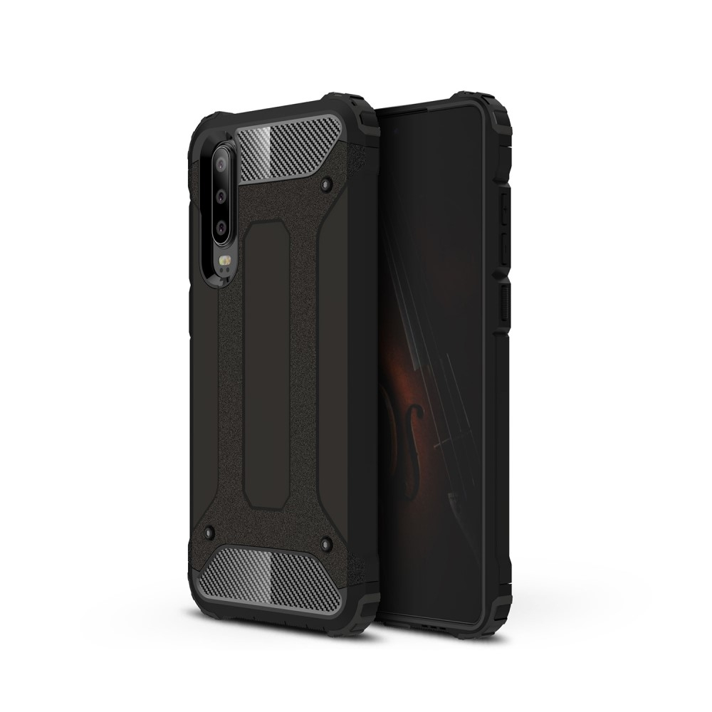 Image of   Huawei P30 - Armor Guard Hybrid cover - Sort