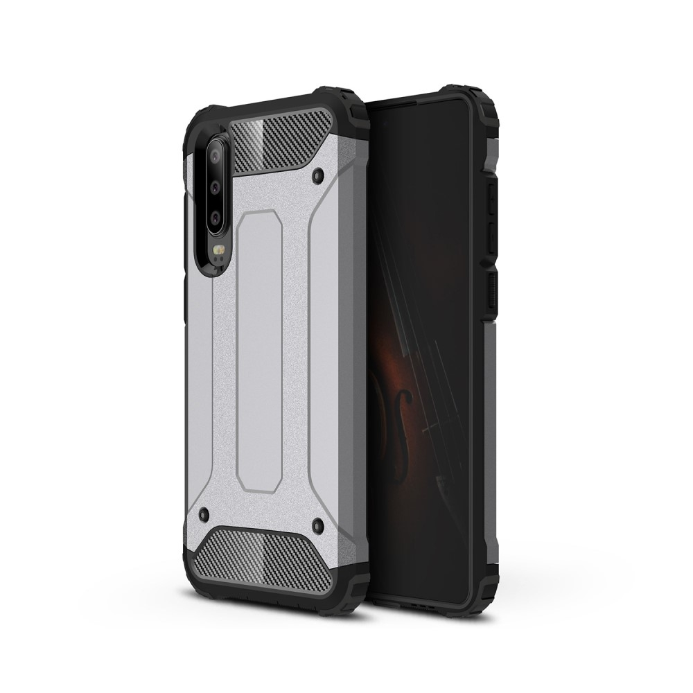 Image of   Huawei P30 - Armor Guard Hybrid cover - Grå