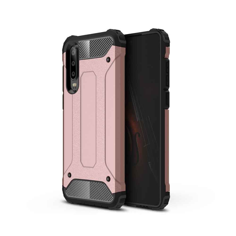Image of   Huawei P30 - Armor Guard Hybrid cover - Rosa guld