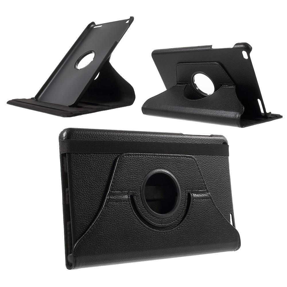 Image of   Huawei mediaPad T1 10 - Læder cover 360 grader roterbart - Sort