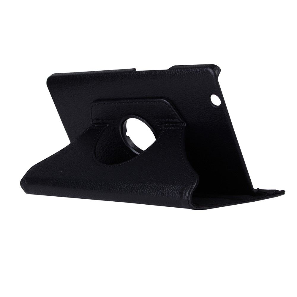 Image of   Huawei MediaPad M3 8 - PU læder cover Litchi skin roterbart - Sort