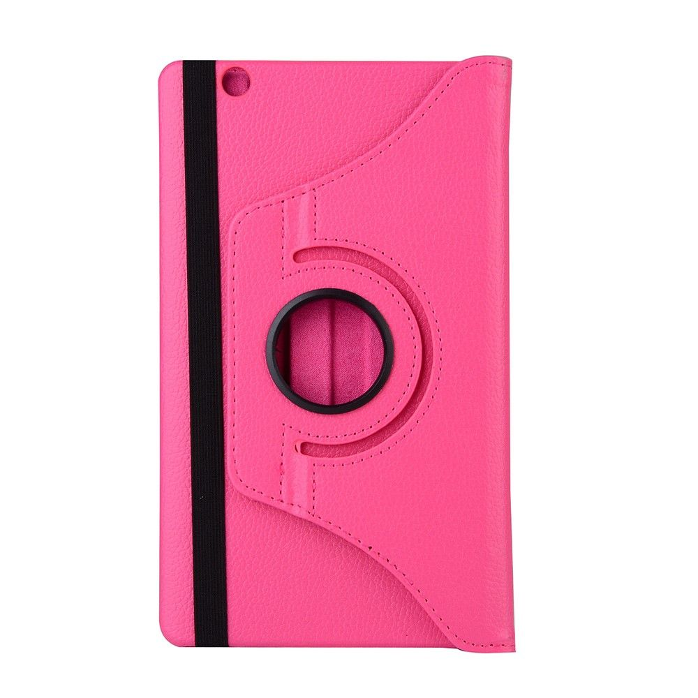 Image of   Huawei MediaPad M3 Lite 8 - PU læder cover Litchi skin roterbart - Rosa