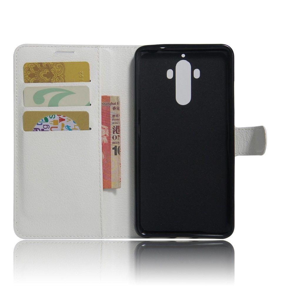 Image of   Huawei Mate 9 - læder cover / pung - Hvid