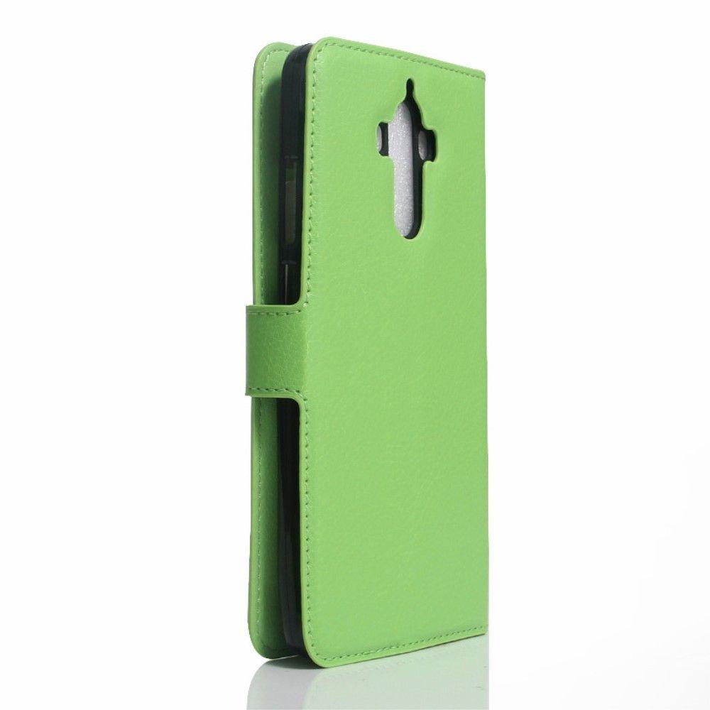 Image of   Huawei Mate 9 - læder cover / pung - Grøn
