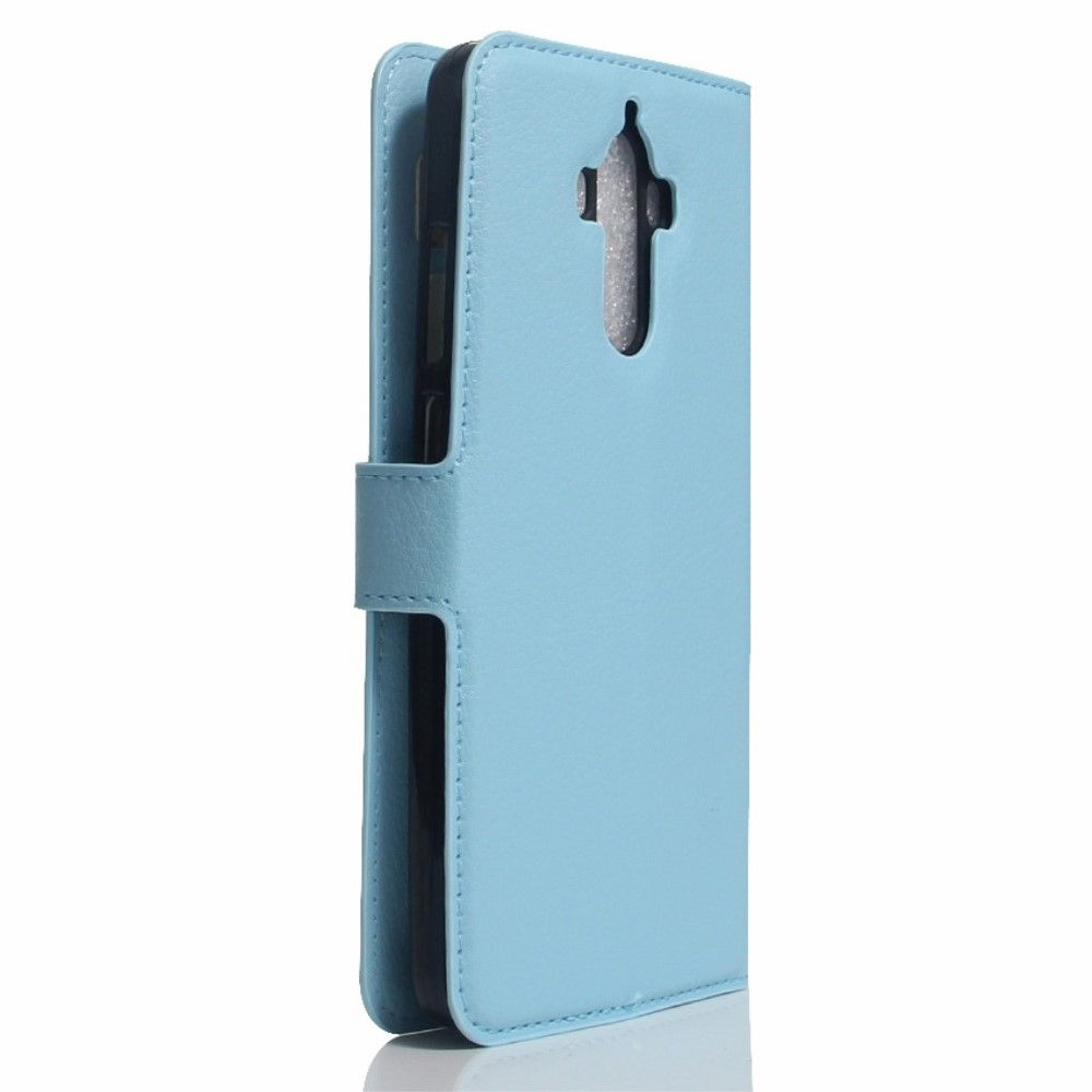 Image of   Huawei Mate 9 - læder cover / pung - Blå