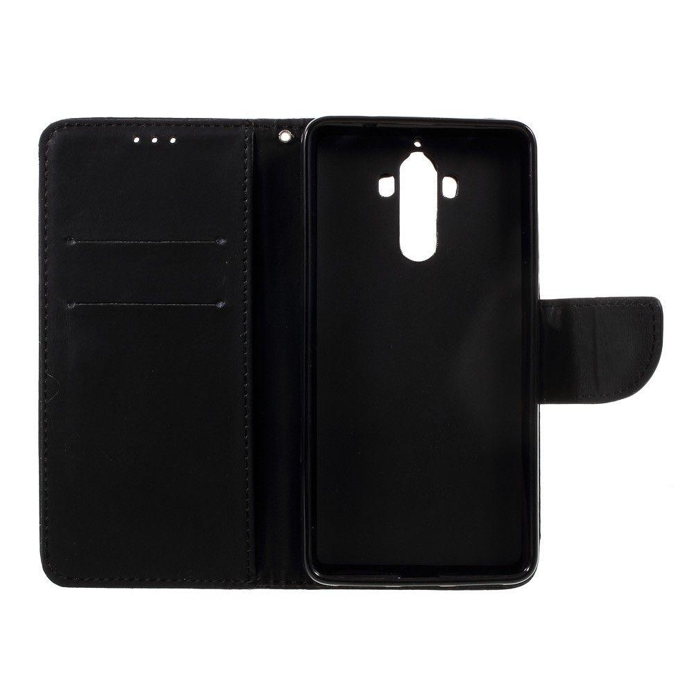 Image of   Huawei Mate 9 - Pu læder cover m/strop - Sort