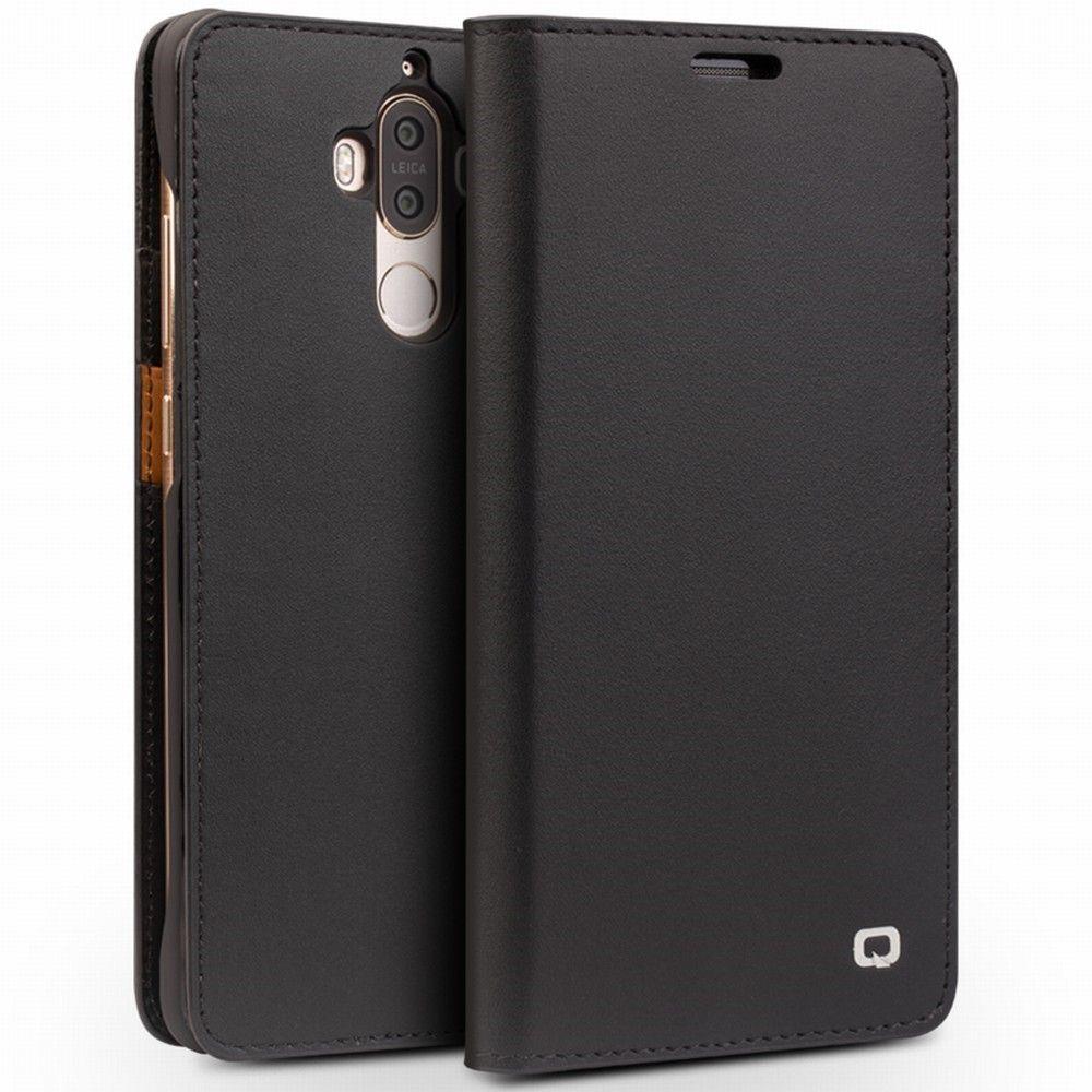 Image of   Huawei Mate 9 - QIALINO smart ægte læder cover - Sort