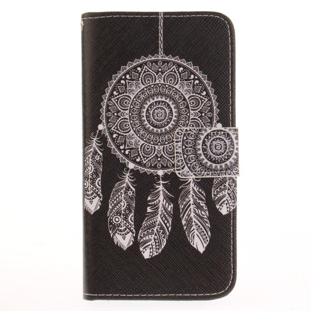 Huawei P10 Lite - læder cover / pung - Stamme drømmefanger