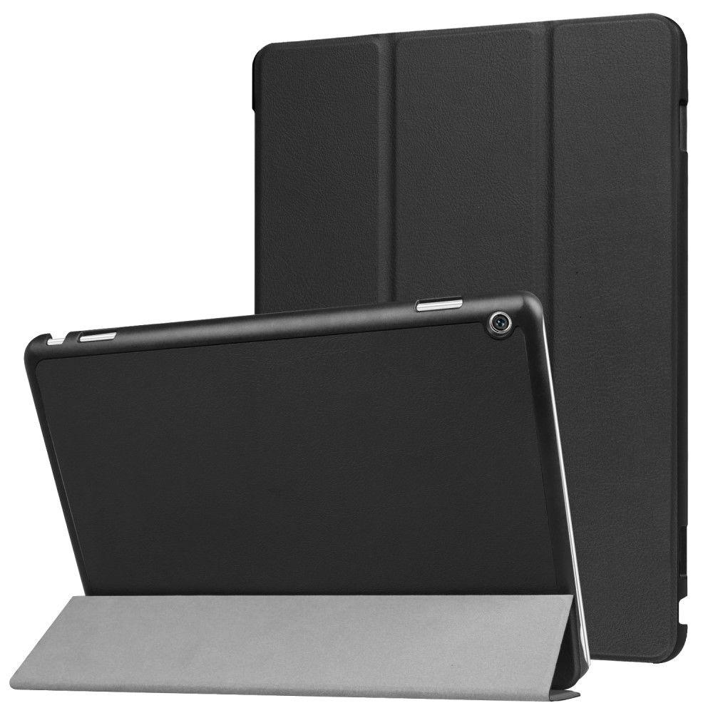 Image of   Huawei MediaPad M3 Lite 10 - PU læder cover Tri-fold - Sort