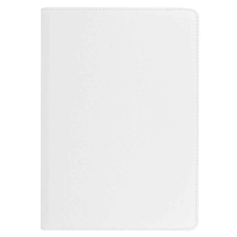"Image of   Huawei MediaPad T3 10"" - Pu læder cover Litchi skin roterbart - Hvid"