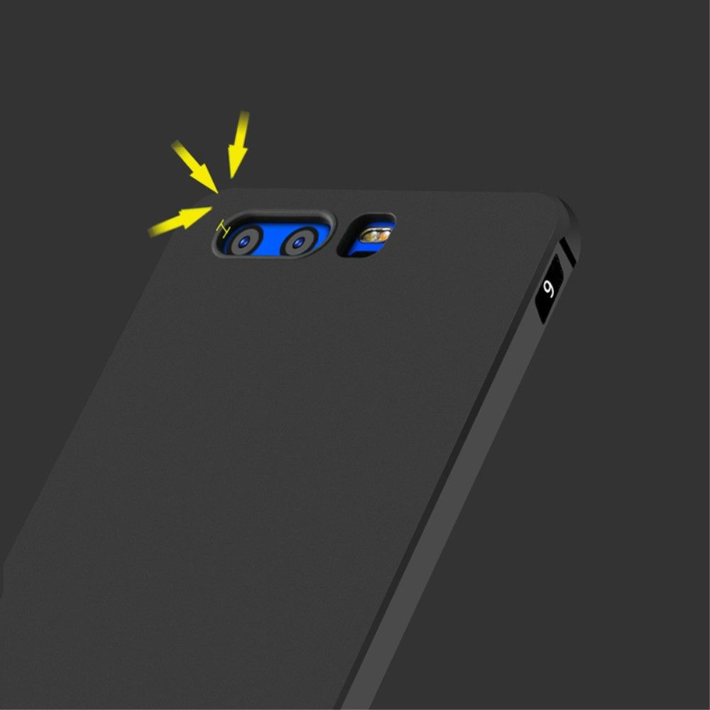 Huawei Honor 9 - TPU cover med anti slip - Sort