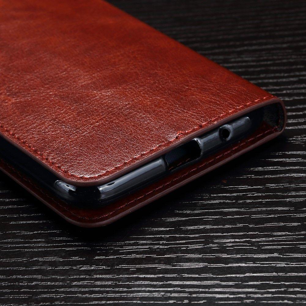 Image of   Huawei Y3 (2017) - Læder flip cover - Brun