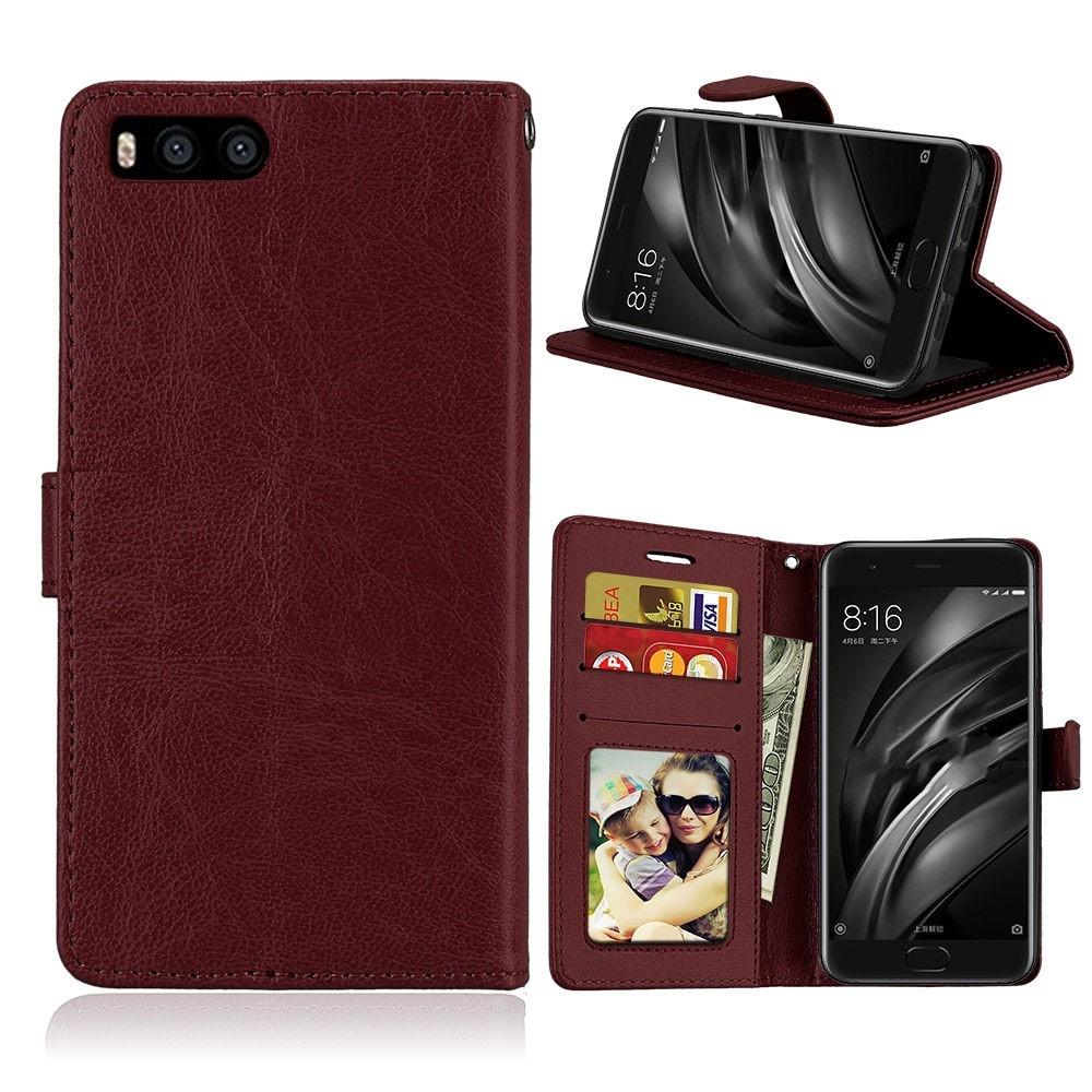 Image of   Xiaomi Mi 6 - Læder cover / pung - Brun