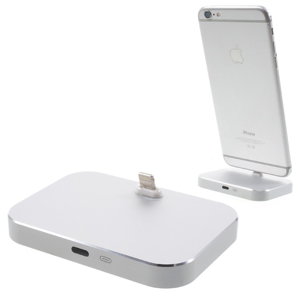 Image of   Aluminum Lightning 8-pin Dock station til iPhone - Silver