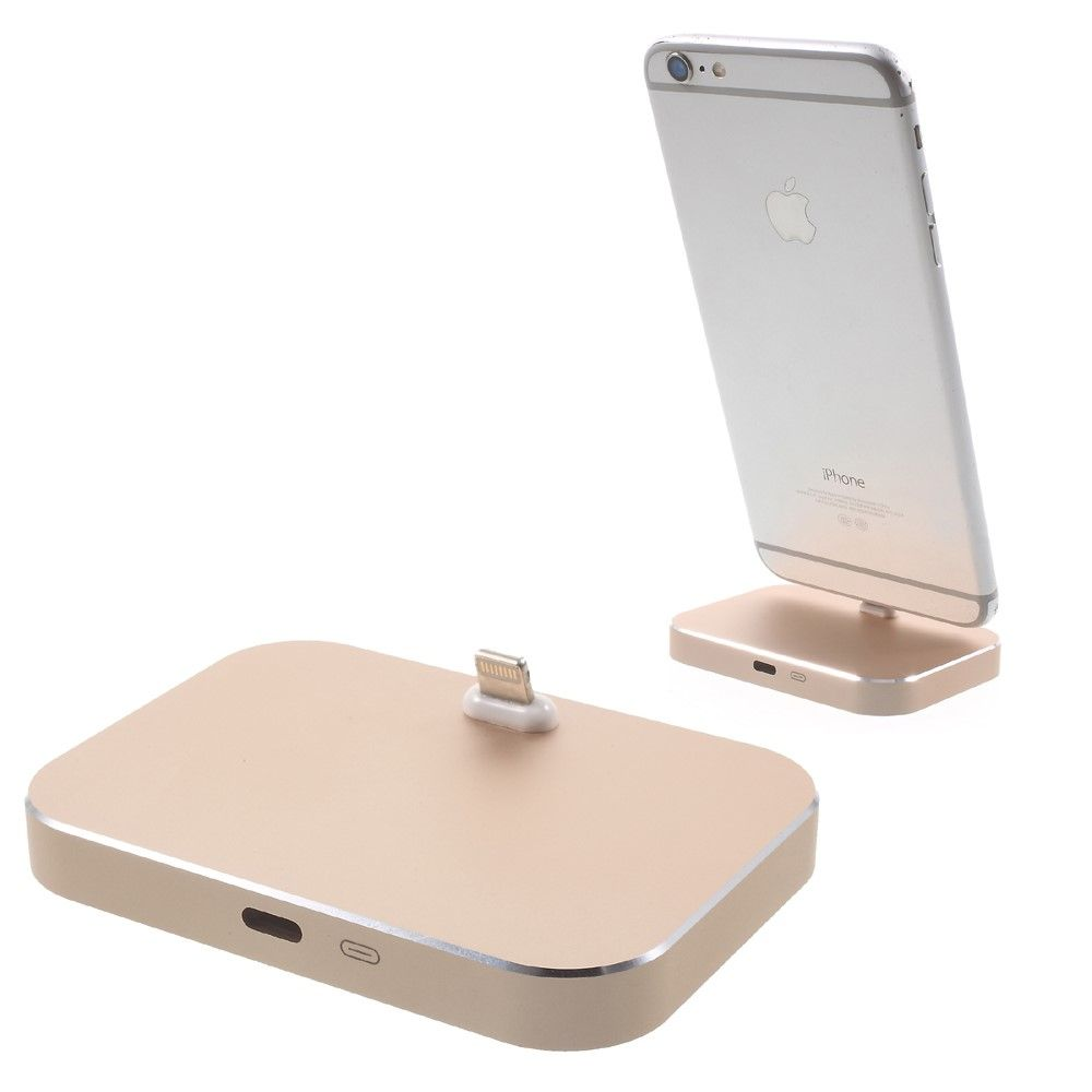 Image of   Aluminum Lightning 8-pin Dock station til iPhone - Gold