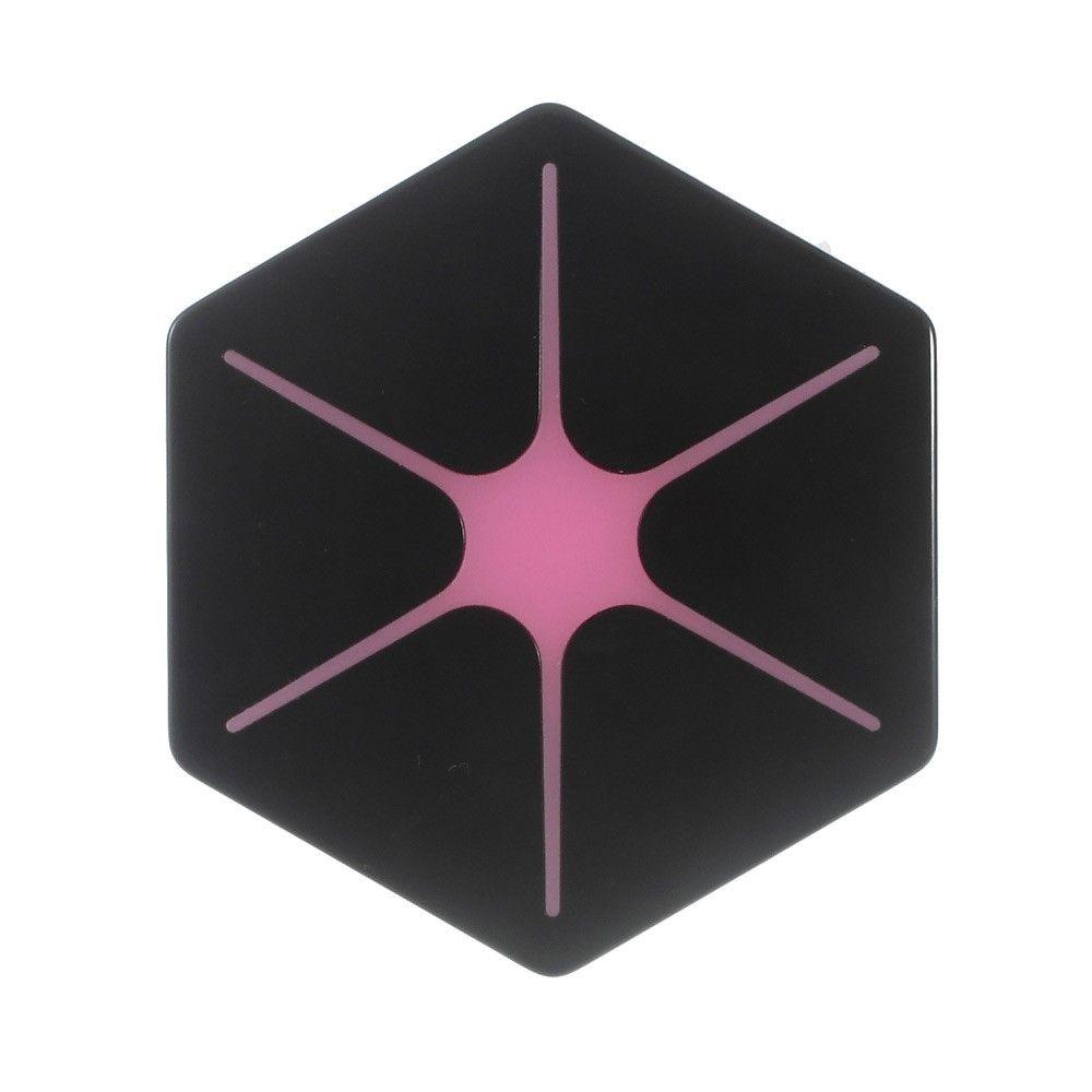 Image of   Hurtig Qi trådløs oplader JHC WL Hexagon - Sort/rose