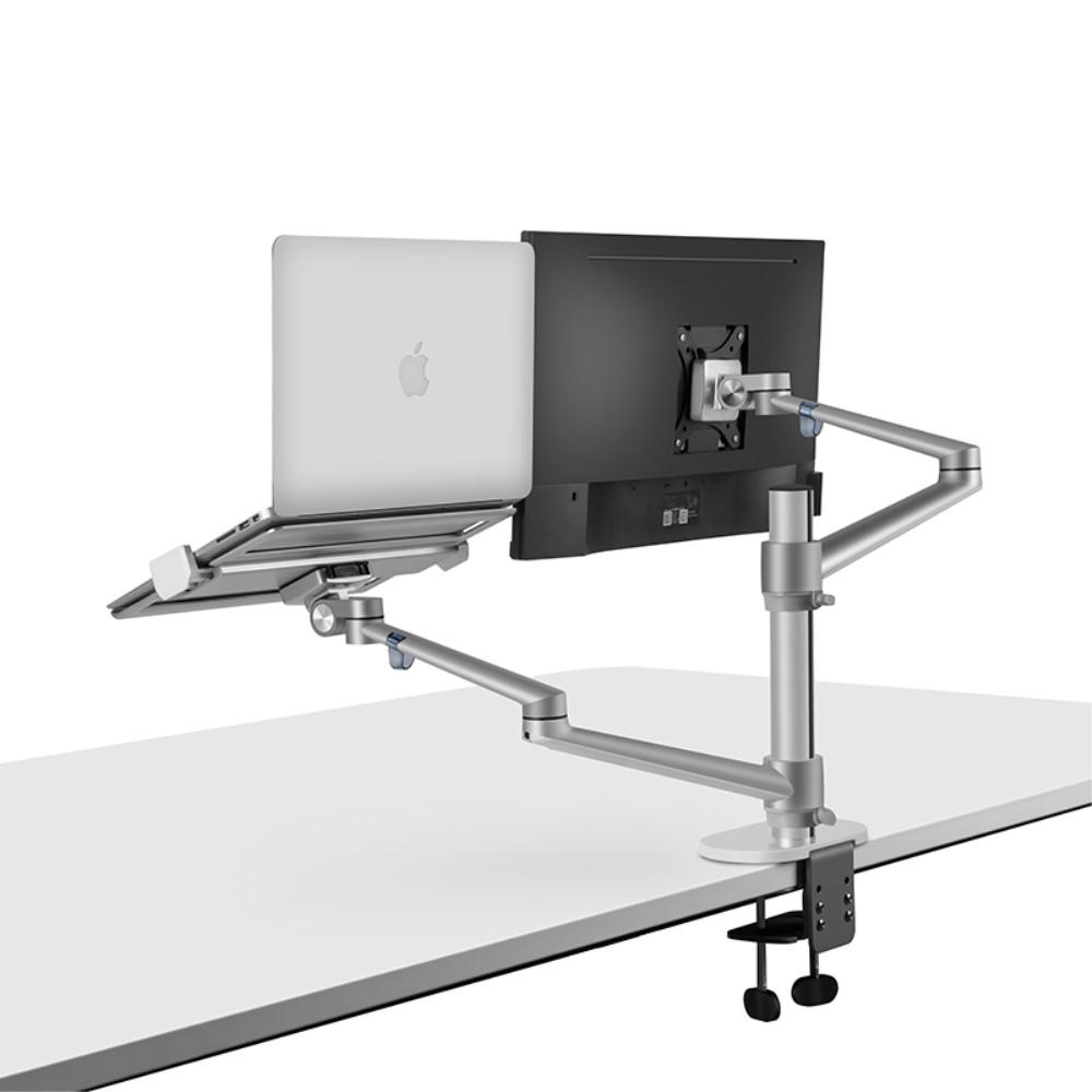 WERGON - Noah - Justerbar Dual Desktop holder - Monitor skærme Max 27