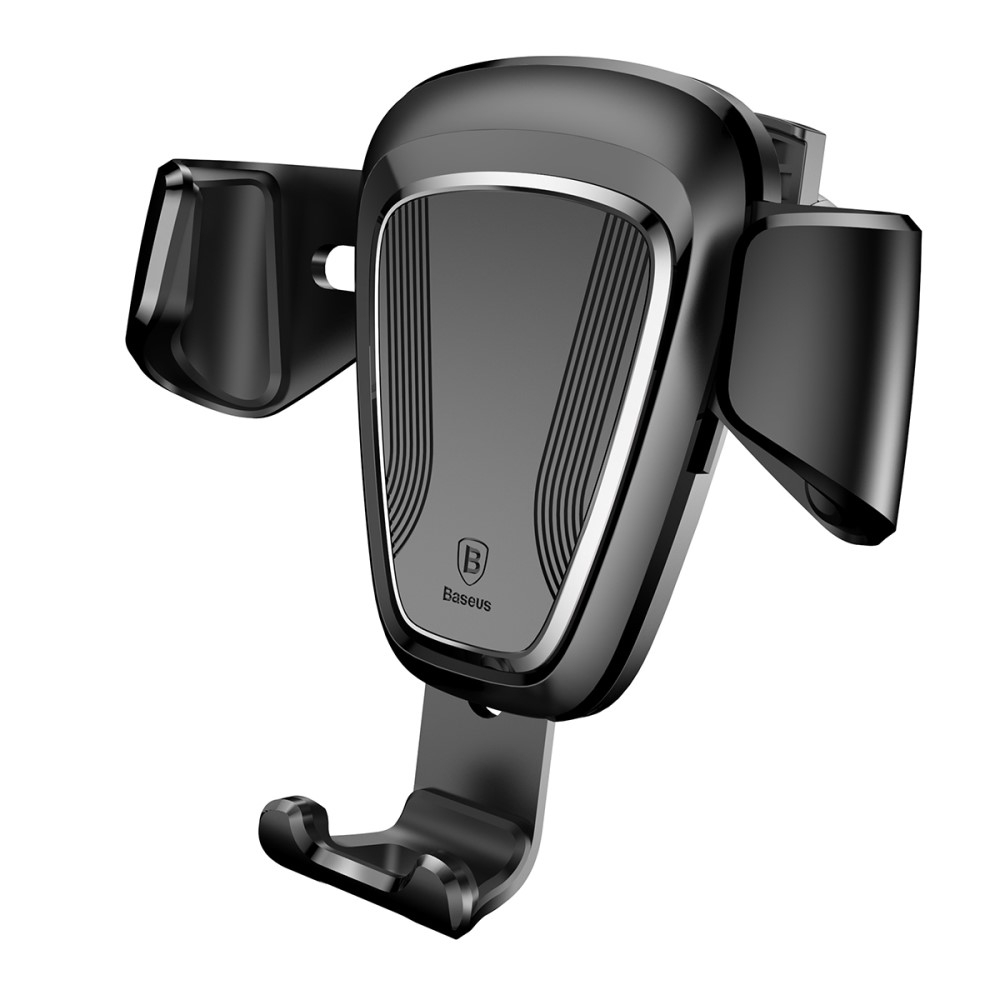 Image of   BASEUS Gravity roterbar holder til bilen (luftkanal) iPhone/smartphone - Sort