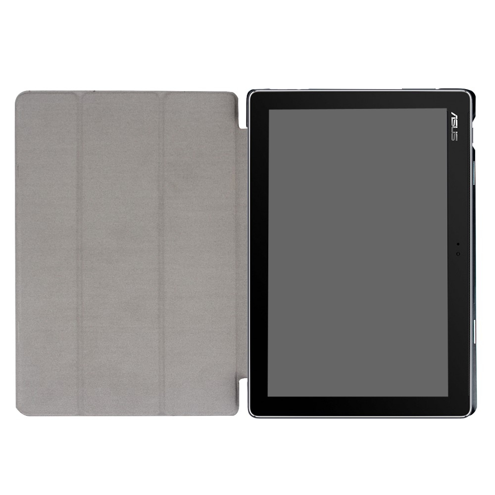 Image of   Asus Zenpad 10 Z301MFL /Z301ML - Læder Tri-Fold cover / etui - Sort