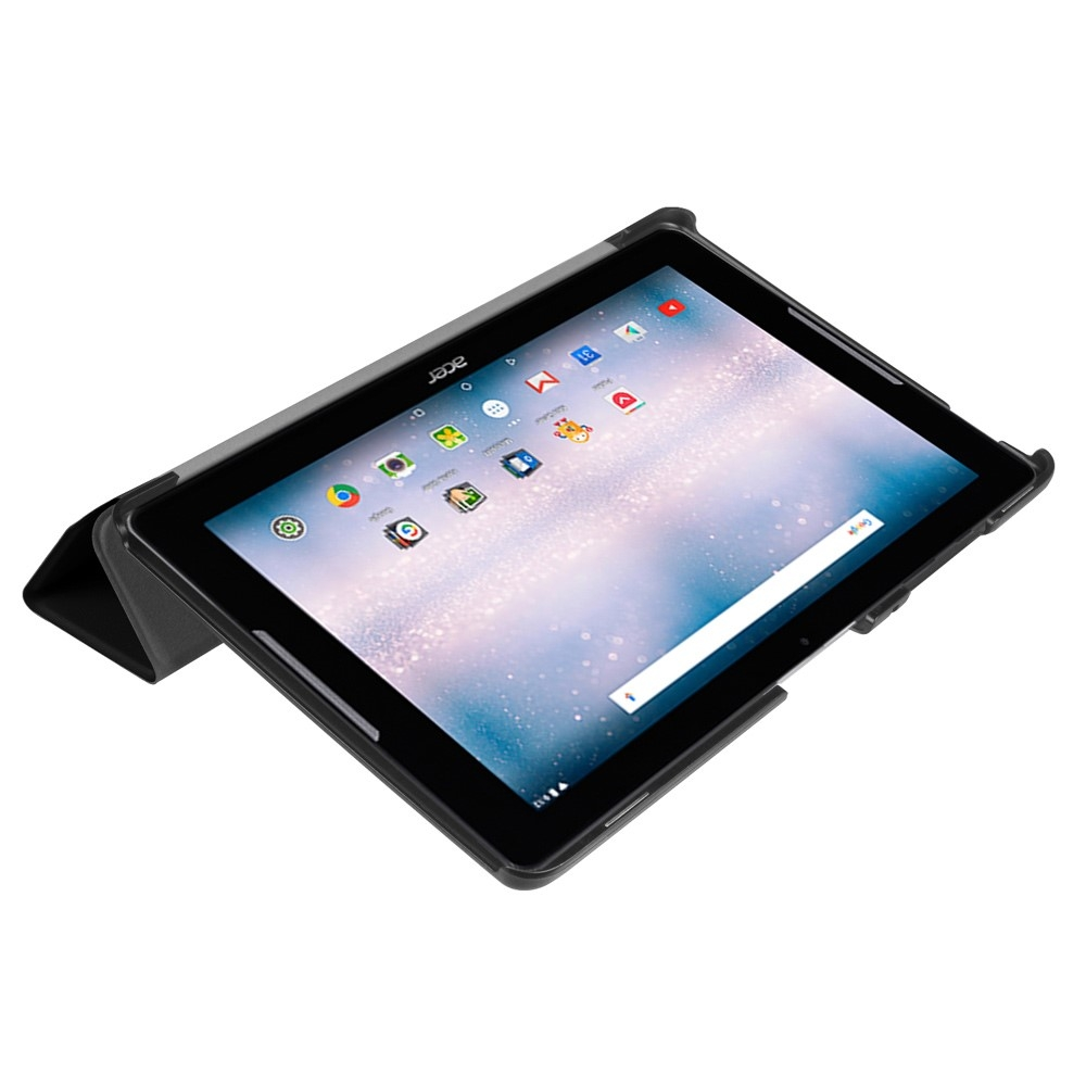 Image of   Acer Iconia One 10 B3-A30 - Læder Tri-Fold cover / etui - Sort