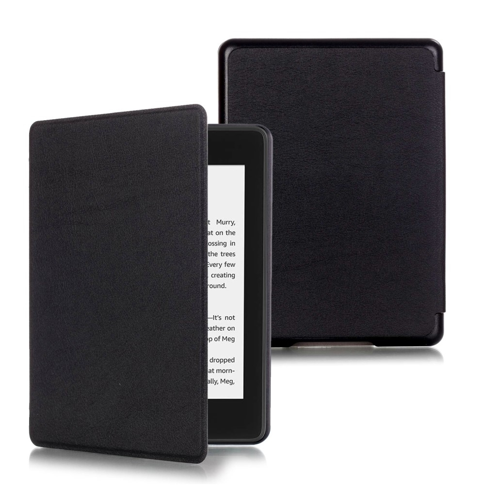 Image of   Amazon Kindle Paperwhite (2018) - Læder cover / taske - Sort
