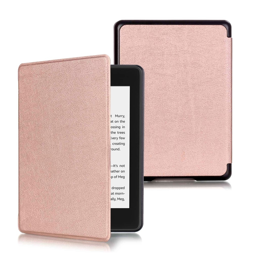 Image of   Amazon Kindle Paperwhite (2018) - Læder cover / taske - Rosa guld