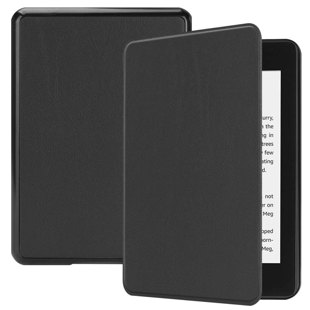 Image of   Amazon Kindle Paperwhite 4 (2018) - Læder flip cover - Sort
