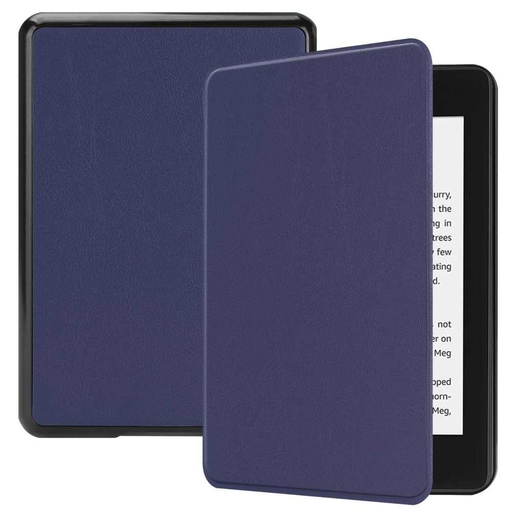Image of   Amazon Kindle Paperwhite 4 (2018) - Læder flip cover - Mørkeblå