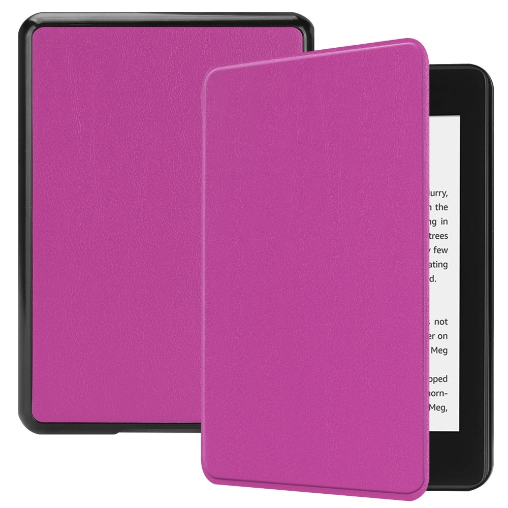Image of   Amazon Kindle Paperwhite 4 (2018) - Læder flip cover - Lilla