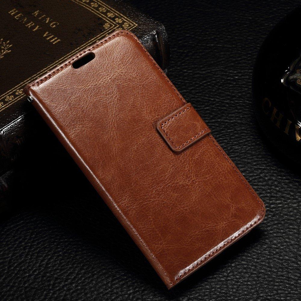 Image of   Microsoft Lumia 550 - Læder cover / pung - Brun