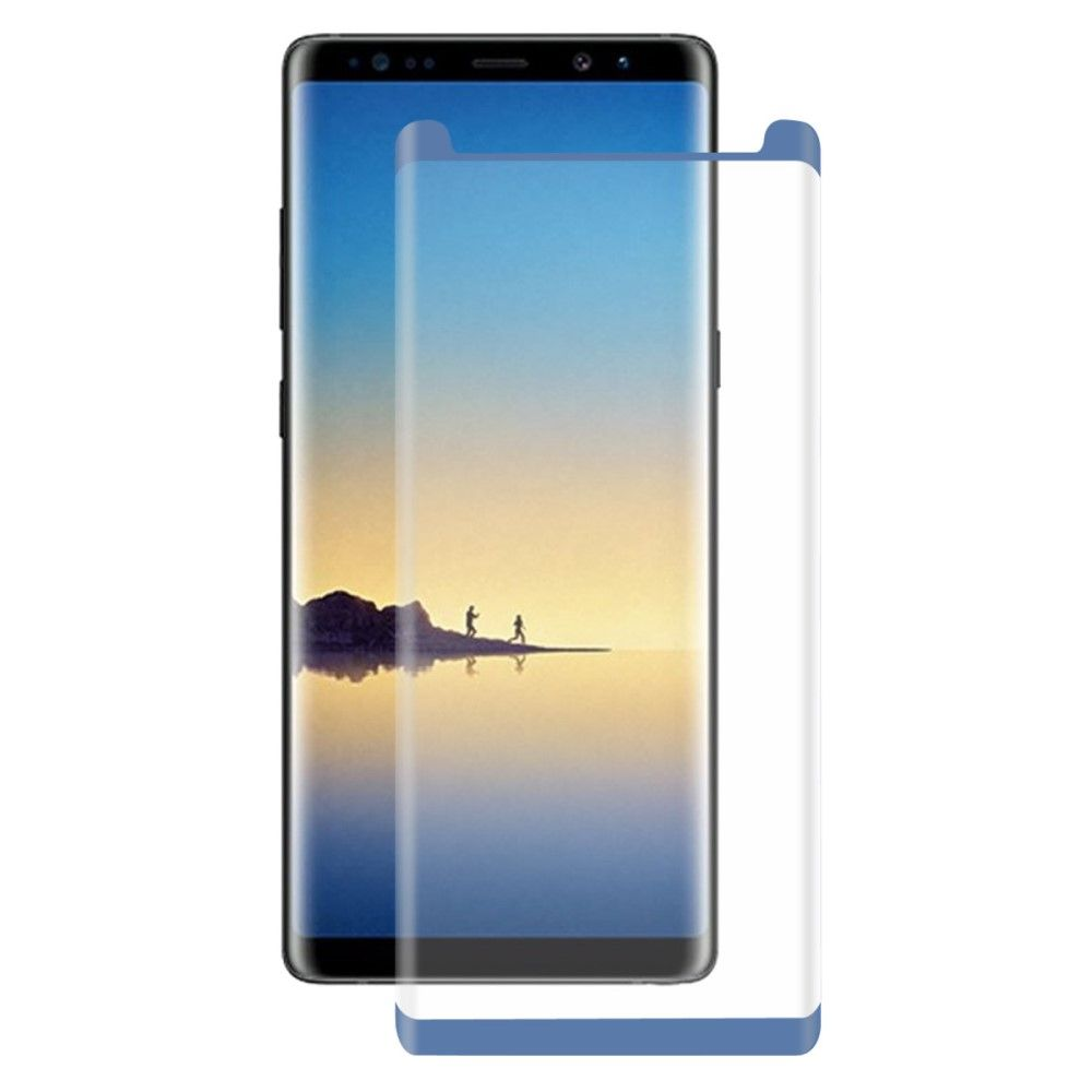 Image of   Galaxy Note 8 - Hærdet panserglas 0,26 mm. HAT PRINCE komplet dækning - Blå