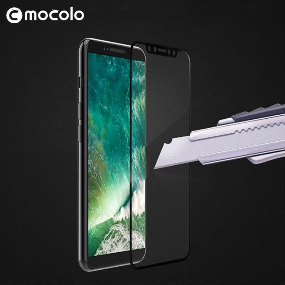 iPhone X - Hærdet panserglas MOCOLO fuld dækning - Sort