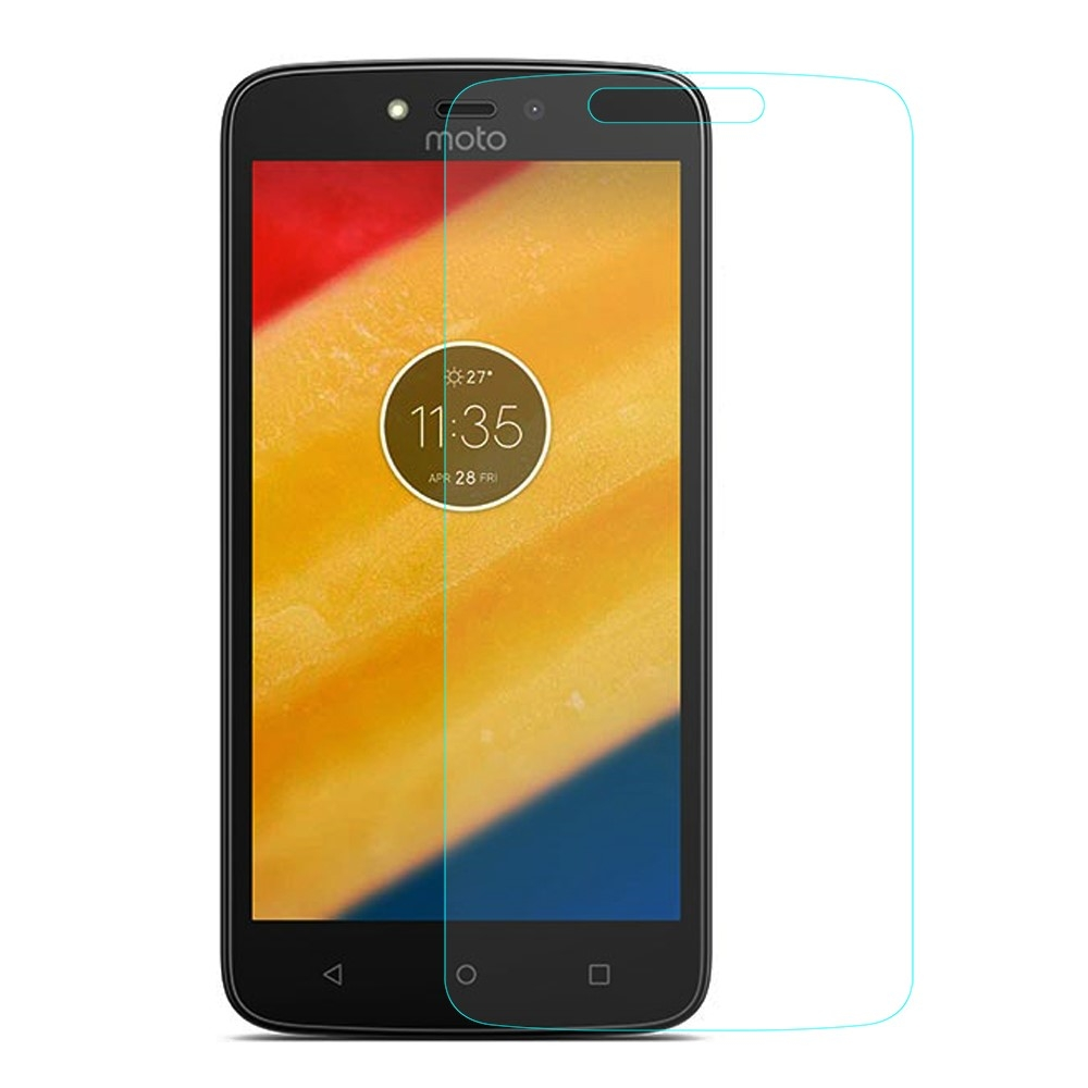 Motorola Moto C Plus - Hærdet panserglas 0.3mm (Arc Edge)