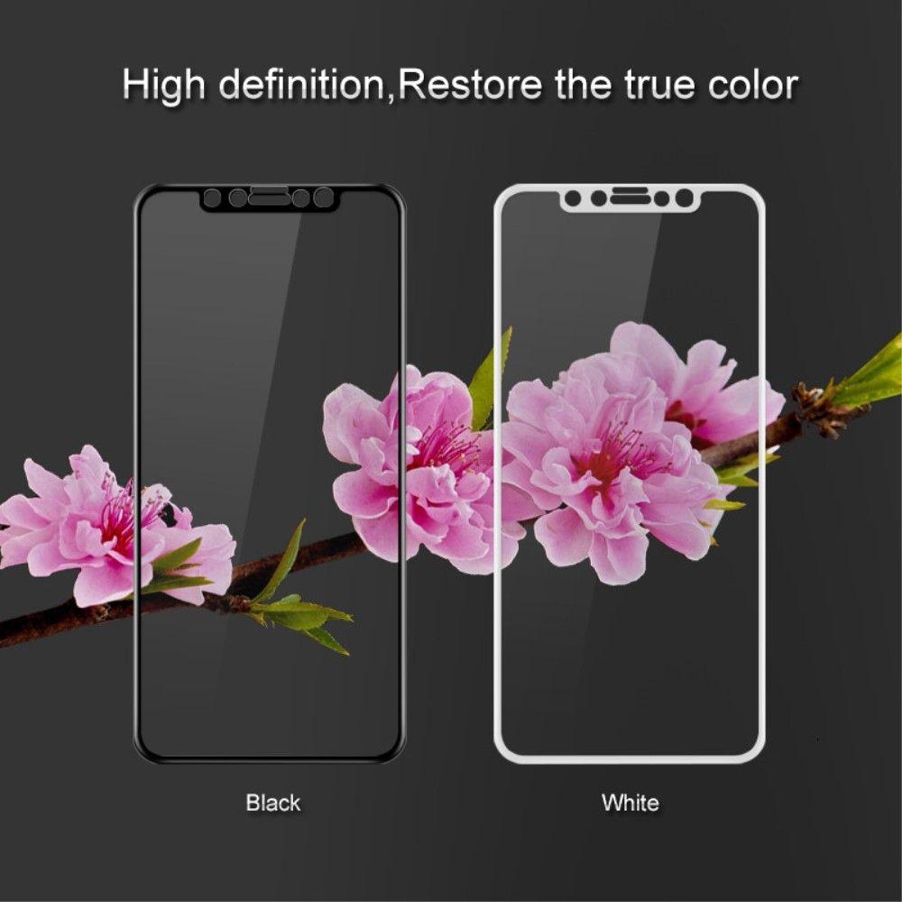 iPhone X - Hærdet panserglas IMAK komplet dækning - Hvid