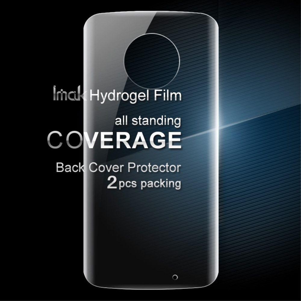 Moto X4 - IMAK soft gel film til bagsiden (2 stk.)