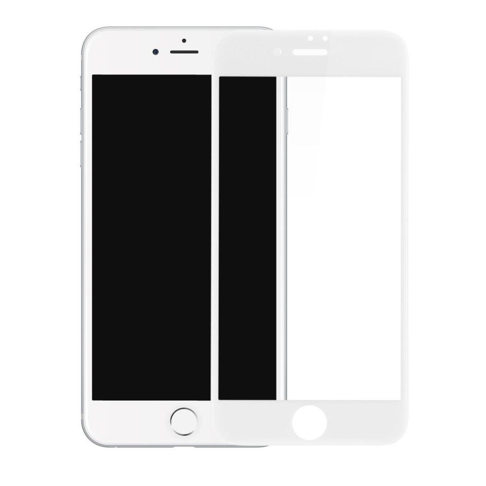 iPhone 8/7 - BASEUS kurvet panserglas 0,23mm. fuld dækning - Hvid