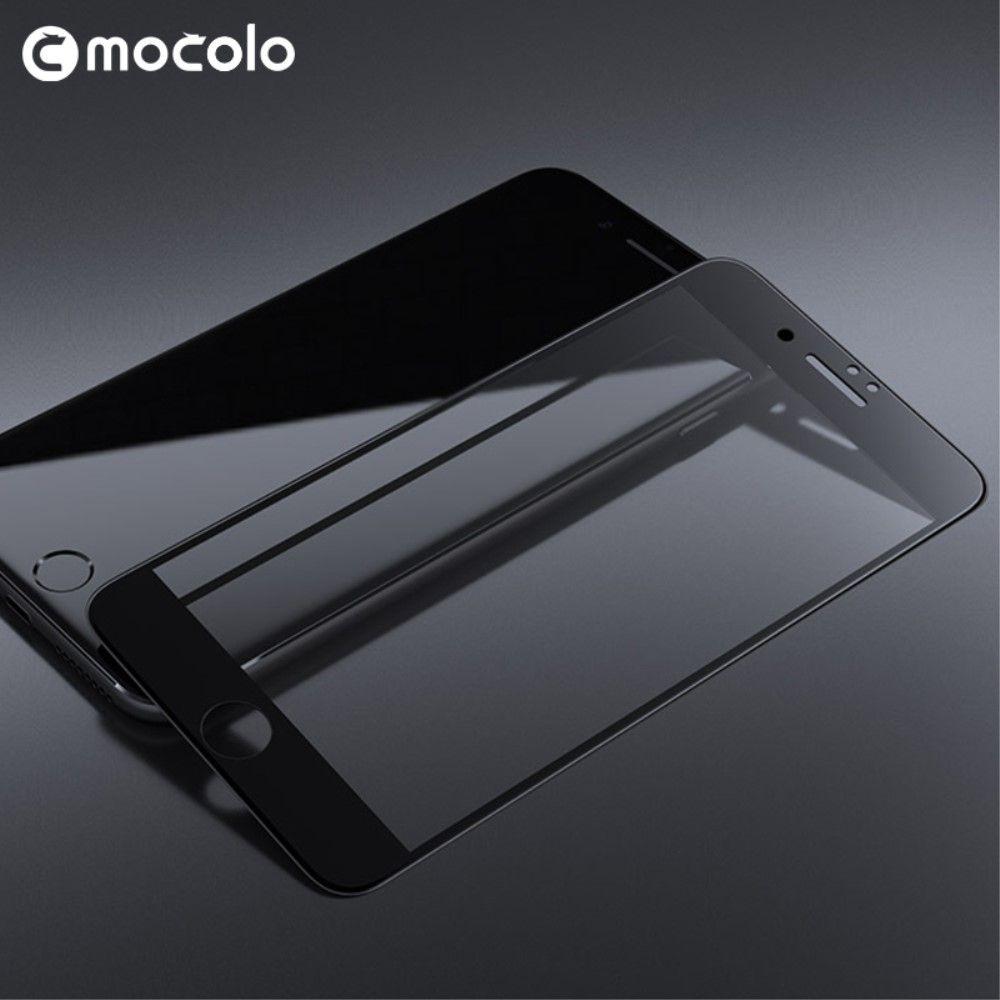 iPhone 8/7 - MOCOLO panserglas fuld dækning - Sort