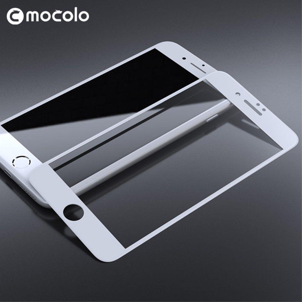 iPhone 8/7 - MOCOLO panserglas fuld dækning - Hvid