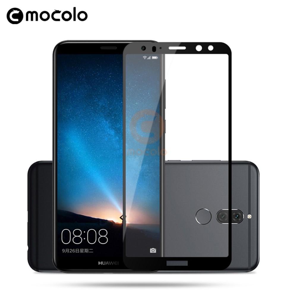 Huawei Mate 10 Lite - MOCOLO Silk panserglas med fuld dækning - Sort